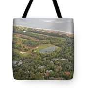 East Coast Aerial Near Jekyll Island Tote Bag