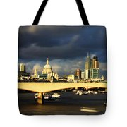 London  Skyline Waterloo  Bridge Tote Bag