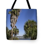 Melbourne Causeway To Indialantic In Central Florida From Geiger Tote Bag