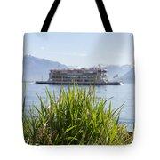 Passenger Ship On An Alpine Lake Tote Bag