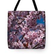 Plum Tree Flowers Tote Bag