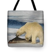 Polar Bear With Fresh Kill Tote Bag