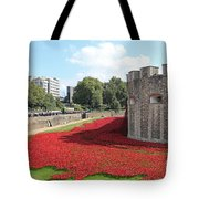 Remembrance Poppies At The Tower Of London Tote Bag