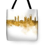 Riyadh Skyline In Watercolour On White Background Tote Bag