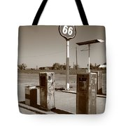 Route 66 Gas Pumps Tote Bag