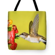 Ruby-throated Hummingbird Female Tote Bag