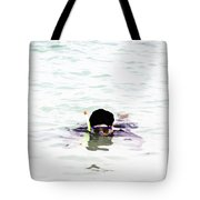 Snorkelling In The Lagoon Inside The Coral Reef Tote Bag