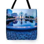 St. Louis Downtown Skyline Buildings At Night Tote Bag