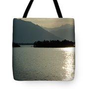 Sunshine Over An Alpine Lake Tote Bag