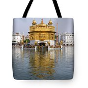 The Golden Temple At Amritsar India Tote Bag