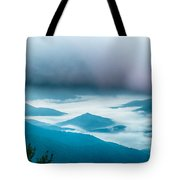 The Simple Layers Of The Smokies At Sunset - Smoky Mountain Nat. Tote Bag