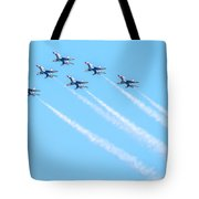 Thunderbirds In Formation  Tote Bag