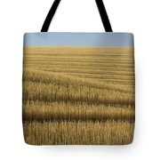 Tracks In Field Tote Bag