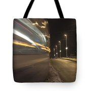 Tram At Night Tote Bag