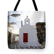 Views From Mykonos Greece Tote Bag