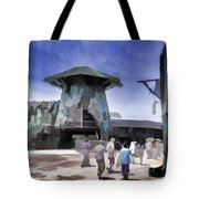 Visitors Heading Towards The Waterworld Attraction Tote Bag