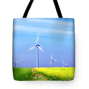 Wind Turbines Tote Bag