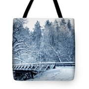 Winter White Forest Tote Bag