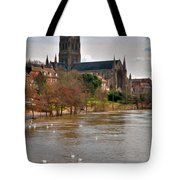Worcester Cathedral And Swans Tote Bag