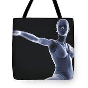 Yoga Warrior II Pose Tote Bag