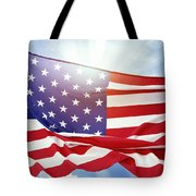 American Flag 55 Tote Bag