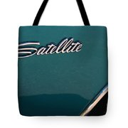 65 Plymouth Satellite Logo-8503 Tote Bag