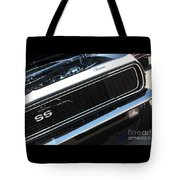 67 Black Camaro Ss Grill-8039-2 Tote Bag