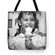 Girl With Ice Cream Cone Tote Bag