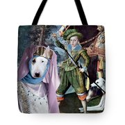 Bull Terrier Art Canvas Print Tote Bag