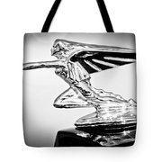 1935 Packard Hood Ornament -0295bw Tote Bag