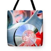 1960 Chevrolet Corvette Steering Wheel Emblem Tote Bag