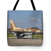 An F-16c Barak Of The Israeli Air Force Tote Bag