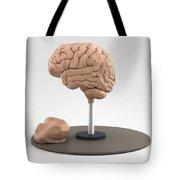 Clay Model Of Brain Tote Bag
