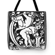 Decorative Initial G Tote Bag