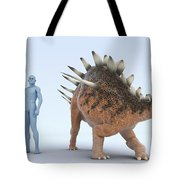Dinosaur Kentrosaurus Tote Bag