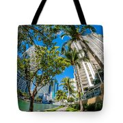 Downtown Miami Brickell Fisheye Tote Bag