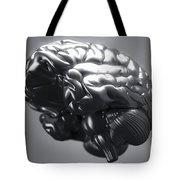 Metallic Brain Tote Bag