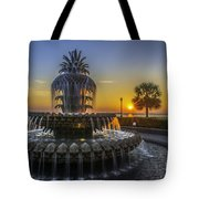 Pineapple Fountain At Sunrise Tote Bag
