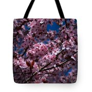 Plum Tree Flowers Tote Bag