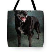 Portrait Of A Labrador Golden Mixed Dog Tote Bag