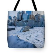 Rare Winter Scenery Around Charlotte North Carolina Tote Bag