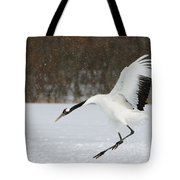 Red-crowned Cranes Tote Bag