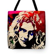 Robert Plant Tote Bag by Marvin Blaine