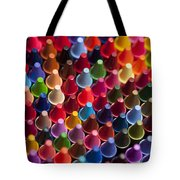 Rows Of Multicolored Crayons  Tote Bag
