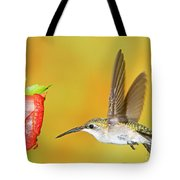 Ruby Throated Hummingbird Female Tote Bag