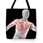 Running Male Figure Tote Bag