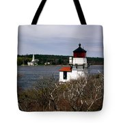 Squirrel Point Lighthouse Tote Bag