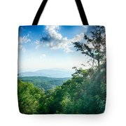 Sunrise Over Blue Ridge Mountains Scenic Overlook  Tote Bag