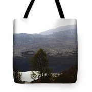 Trees On The Shore Of A Loch And Hills In The Scottish Highlands Tote Bag