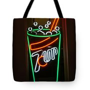7 Up Sign Tote Bag